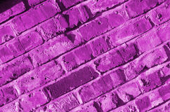 Background of pink brick wall detail. Stock Photography