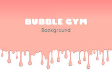Background with pink bubble gum. Royalty Free Stock Photos