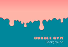 Background with pink bubble gum. Royalty Free Stock Photography
