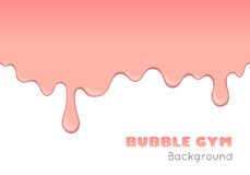 Background with pink bubble gum. Vector background with pink bubble gum or melting ice cream. Flow of sweet sticky liquid. Abstract illustration of splash royalty free illustration