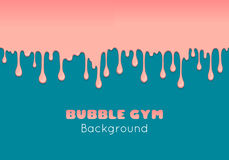 Background with pink bubble gum. Stock Photography