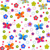 Background with pink butterfly flower Royalty Free Stock Image
