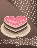 Background with Pink cake Stock Images