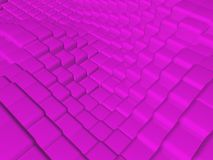 Background of pink cubes. In background stock illustration