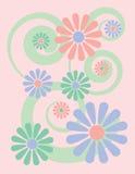Background_Pink floral ilustração stock