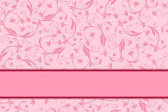 Background pink floral with bow pattern seamless Stock Photos