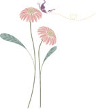Background  of pink flower Stock Photos