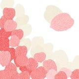 Background of pink flower petals. Vector Stock Photos