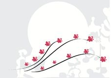Background with pink flowers Royalty Free Stock Images