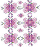 Background with pink flowers in the pattern,symmetrical,repetitive Royalty Free Stock Photo