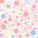 Background of pink flowers. Vector background of pink flowers Royalty Free Stock Image