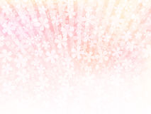 Background of pink flowers. Vector illustration.Original paintings and drawing royalty free illustration