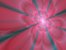 Background with a pink glowing flower royalty free stock photos