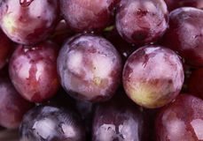Background with pink grapes Stock Photo