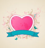 Background with pink heart Stock Photo