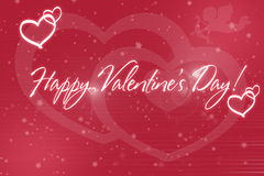 Background pink heart Happy Valentine`s Day Royalty Free Stock Image