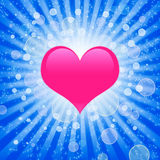 Background with a pink heart Royalty Free Stock Photos
