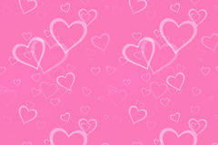 Background pink heart Stock Photography