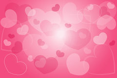 Background pink heart Royalty Free Stock Image