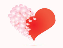 Background. The background with pink hearts Stock Photos