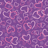 Background of pink hearts Stock Photos