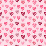 Background with Pink Hearts. Seamless texture Royalty Free Stock Photos