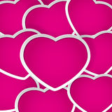 Background with pink hearts Royalty Free Stock Image