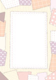 Background pink patchwork Royalty Free Stock Photos