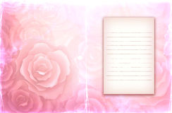 Background with pink roses Royalty Free Stock Images