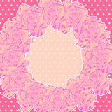 Background with Pink Roses Stock Photography