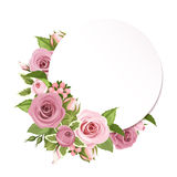 Background with pink roses. Vector eps-10. Stock Image
