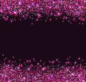 Background with pink shining stars Royalty Free Stock Photos