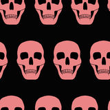 Background with pink skulls Stock Photography