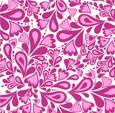 Background pink splash pattern and heart. Vector Royalty Free Stock Image
