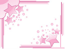 Background with pink star Royalty Free Stock Photography