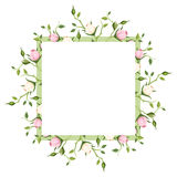 Background with pink and white rose buds. Vector illustration. Stock Image