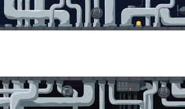 Background with pipeline, valves, and text field in the center Royalty Free Stock Image