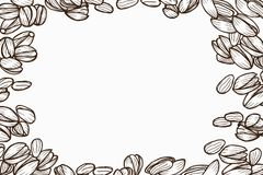 Background with pistachio. Monochrome Background with pistachio. Vector hand drawn illustration Royalty Free Stock Photo