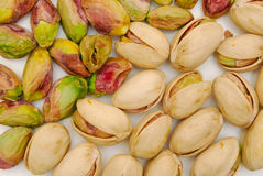 Background of pistachio nuts Stock Photography