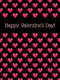 Background with pixel hearts Stock Photo