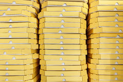 Background from pizza boxes Royalty Free Stock Photos