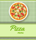 Background with pizza Stock Photography
