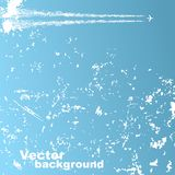 Background with plane and clouds. Vector Royalty Free Stock Images