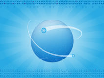 Background planet. Abstract blue horizontal background with planet earth Royalty Free Stock Photo