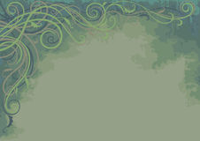 Background with Plant - Horizontal. Horizontal green background with decorative plant Royalty Free Stock Photography