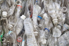 Plastic bottles in a recycling Stock Image