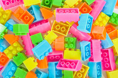 Background of plastic brick toys Royalty Free Stock Photography