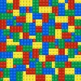 Background of plastic building blocks Royalty Free Stock Photos