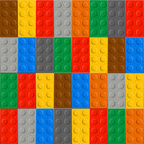 Background of plastic construction block Royalty Free Stock Photography