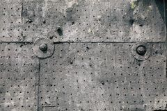 Background from the plating of an old plane. Close-up royalty free stock images